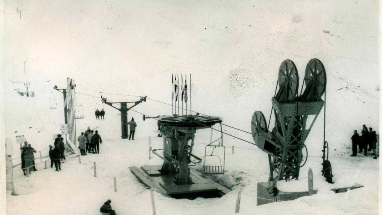 Foto: Así era el telesilla Furco, el primero de Formigal en 1965 (Foto: Aramón)