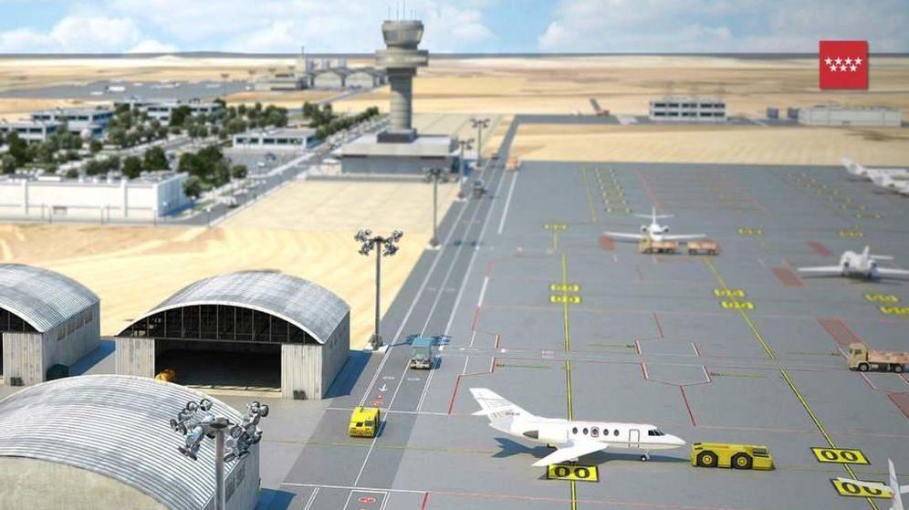 Foto: Simulación del aeródromo de El Álamo. (madrid.org)