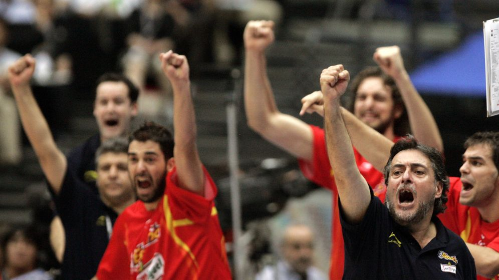 Foto: Pepu Hernández celebra el triunfo del Mundial de 2006 en la final contra Grecia. (Efe)