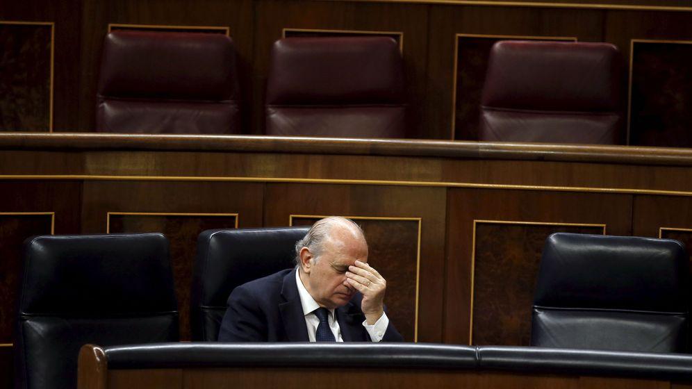 Foto: El Ministro de Interior, Jorge Fernandez Díaz, durante el debate y votación de la Ley de Seguridad Ciudadana el pasado julio, conocida como Ley Mordaza. (Foto: Reuters)