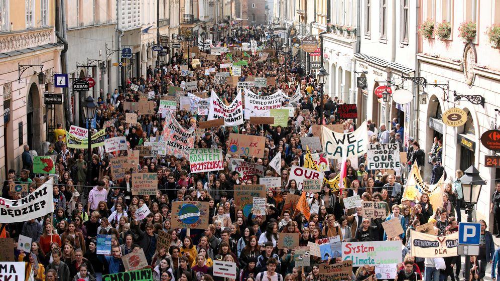 Foto: Manifestación en Cracovia. (Reuters)