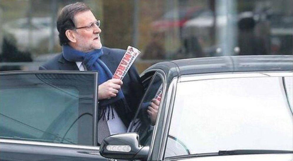 Foto: Mariano Rajoy, presidente del Gobierno y lector fiel del 'Marca'