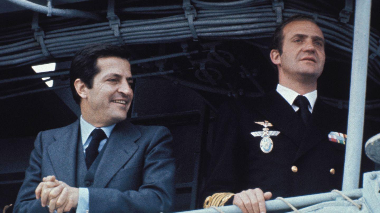 El Rey emérito con Adolfo Suárez.