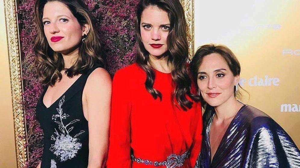 Foto: Casilda Finat con sus íntimas, Isabelle Junot y Tamara Falcó. (Redes)