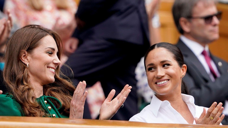Kate y Meghan, en Wimbledon este año. (Reuters)