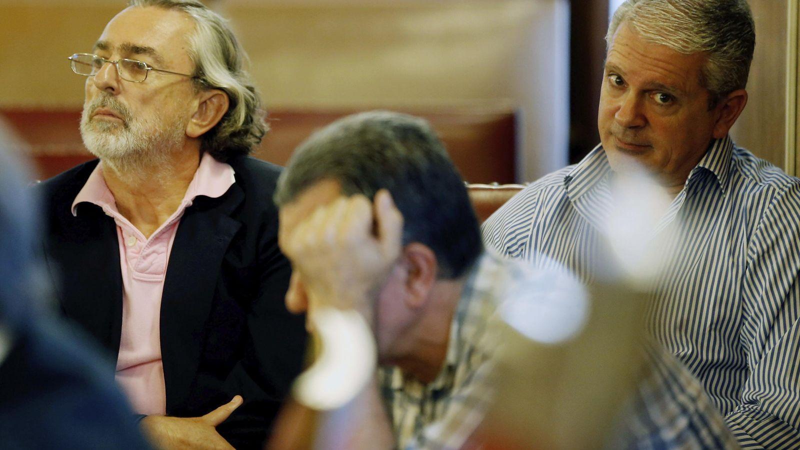 Foto:  Los cabecillas de la trama Gürtel, Francisco Correa (i), Pablo Crespo (d) y Cándido Herrero. (EFE)