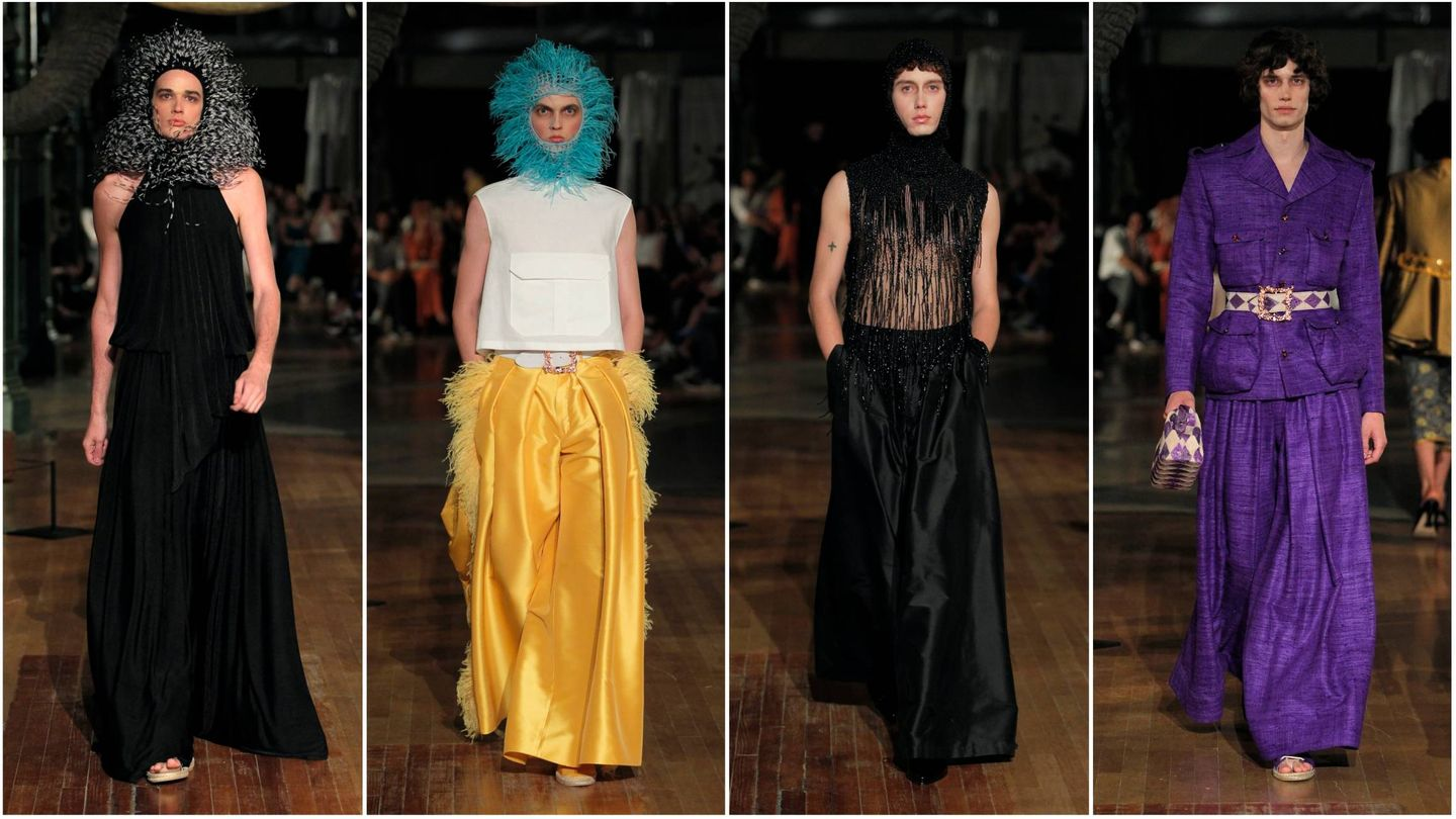 Algunos de los modelos lucen las propuestas para la primavera-verano 2019 de Palomo Spain. (Imágenes: Cortesía de la marca)
