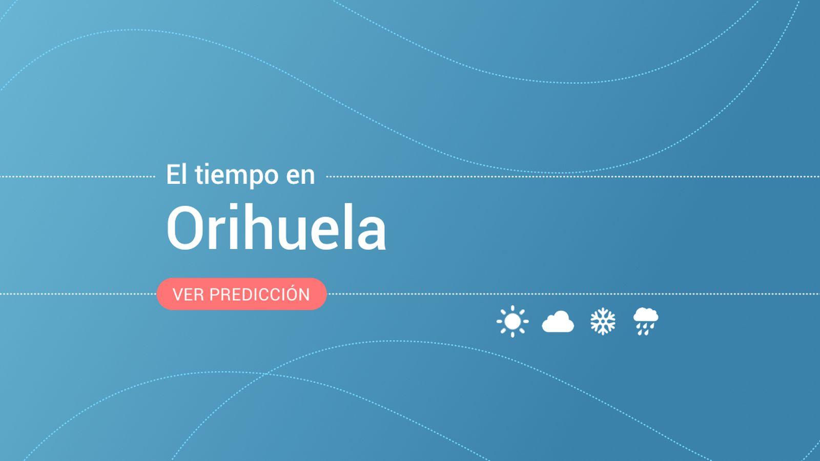 Foto: El tiempo en Orihuela. (EC)