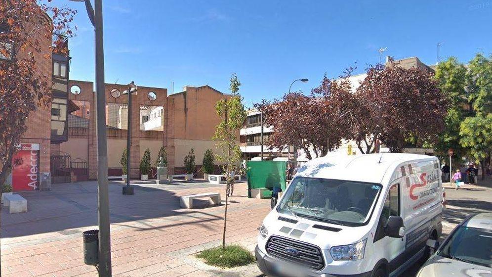 Foto: Plaza del General Palacio de Getafe, donde se produjo el último apuñalamiento. Foto: Europa Press