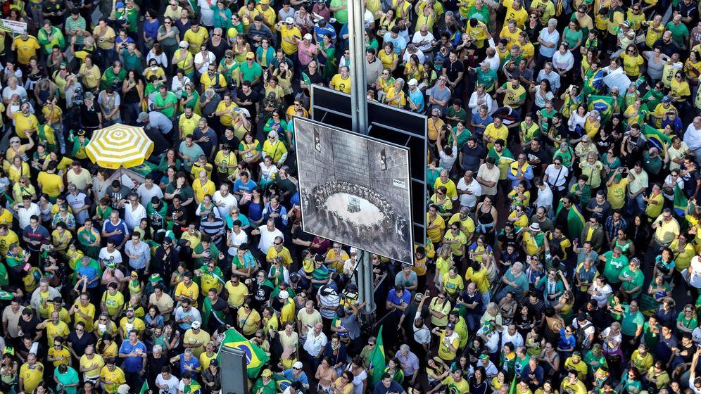 Foto: Movilizaciones a favor de Jair Bolsonaro. (EFE)