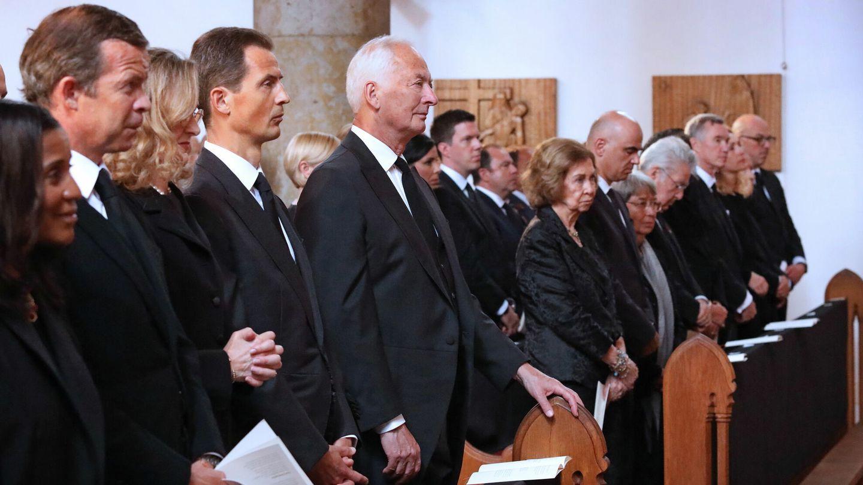 La reina Sofía, en el funeral de Marie de Liechtenstein. (Casa Real)