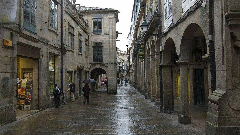 Vista del casco histórico de Santiago. (Foto: Wikimedia)