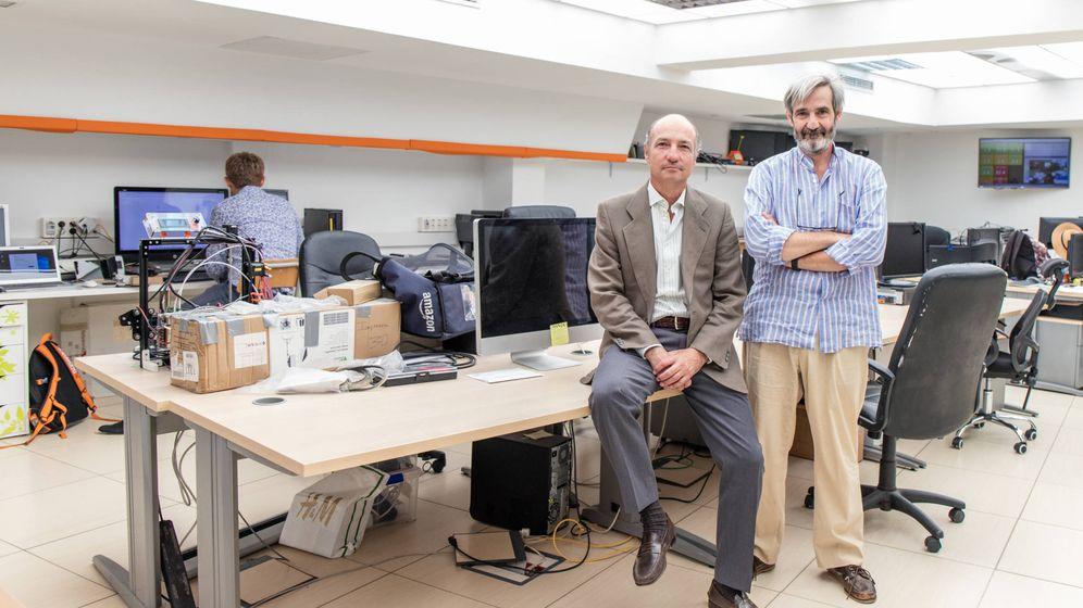 Foto: Juan Pedro Domecq, a la izquierda, junto a Nicolás Franco. (Jorge Álvaro Manzano)