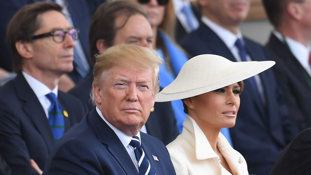 Melania Trump cierra su agenda en Londres con un tocado inspirado en Meghan