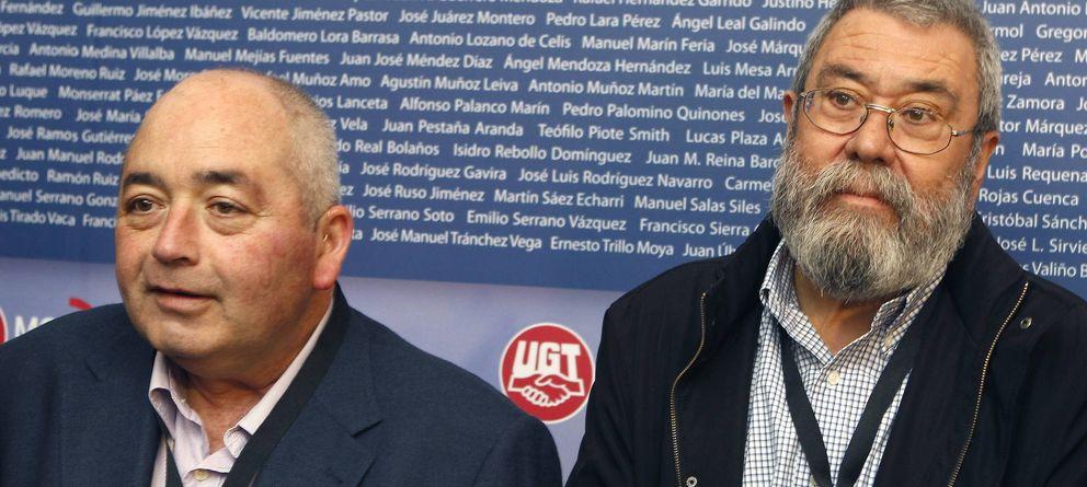 Foto: El secretario general de UGT-A (d), Manuel Pastrana, y Cándido Méndez. (EFE)