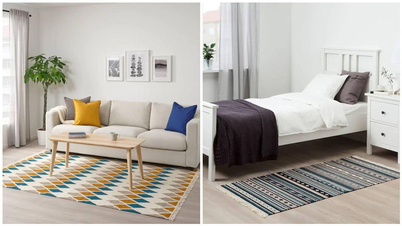 Alfombras de Ikea para un estilo Japandi. (Cortesía)