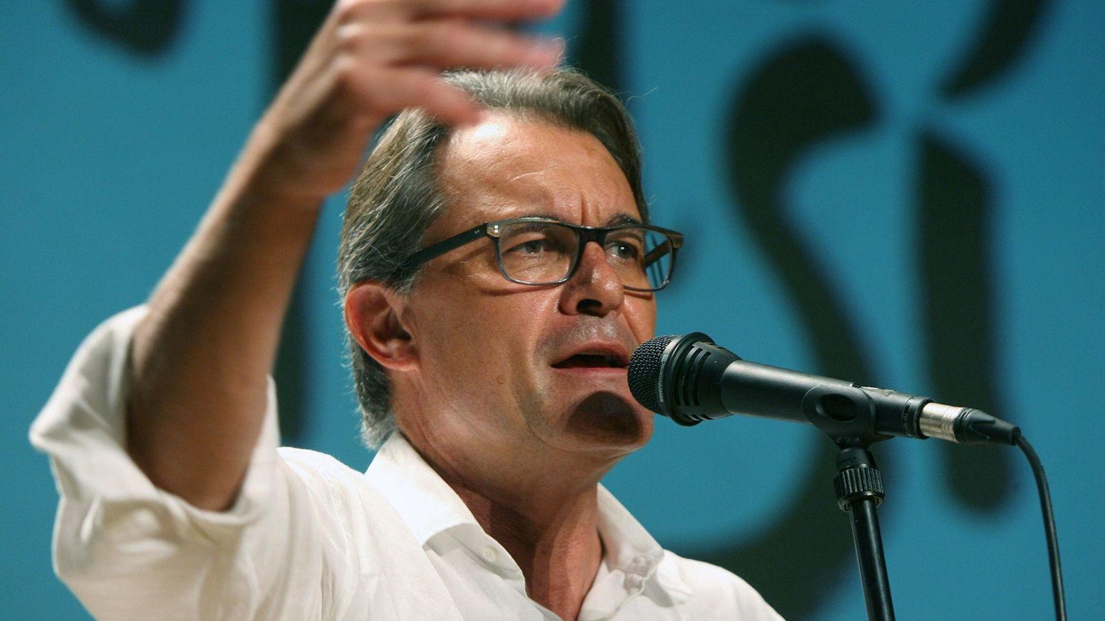 Foto: Artur Mas durante el acto de presentación de los candidatos de Juns pel Si en Valls. (Efe)