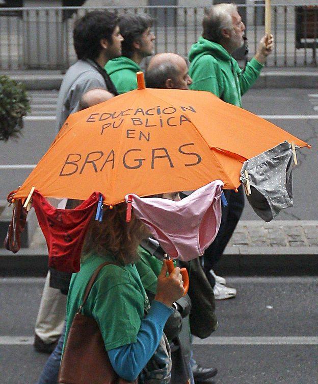 Foto: Una instantánea de una manifestación en Madrid de 2012 en contra de los recortes en Educación.
