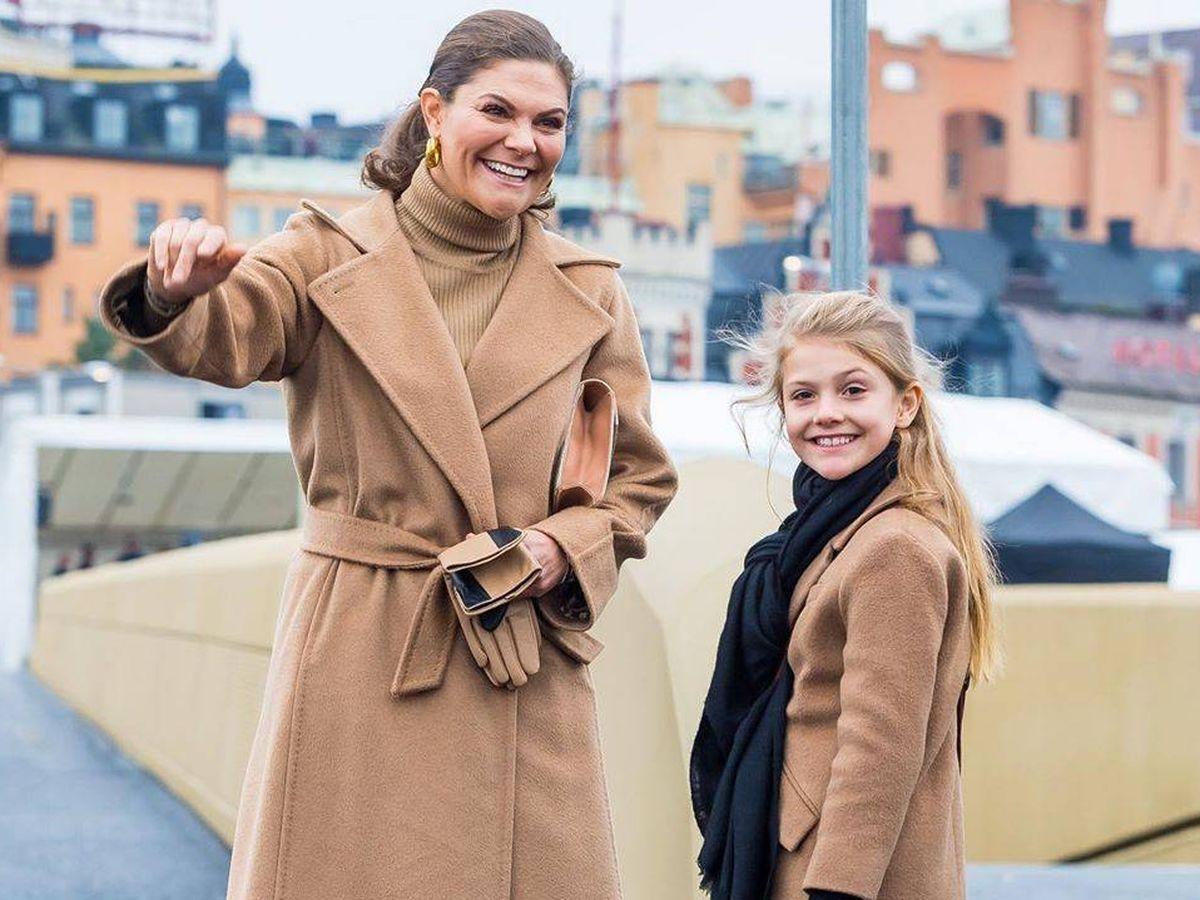 Foto: La princesa Victoria y su hija Estelle. (Instagram @kungahuset)