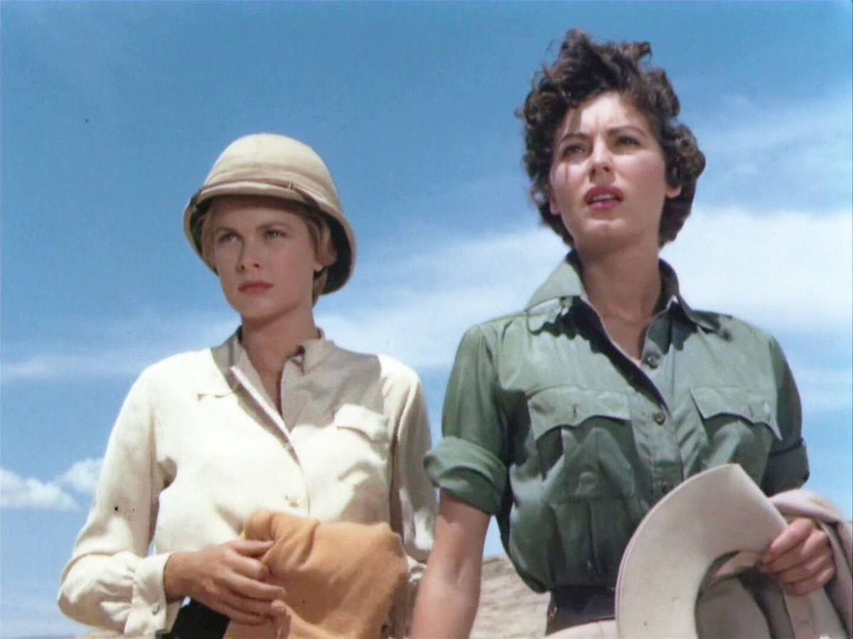 Foto: Grace Kelly y Ava Gardner en un fotograma de 'Mogambo', inspiración para la tendencia utility de Zara. (MGM)