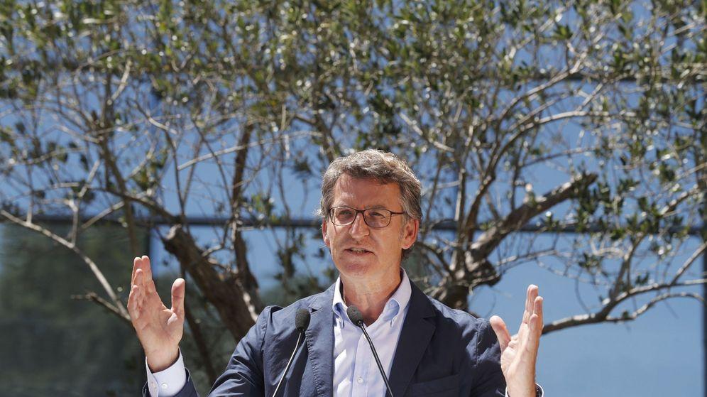 Foto: El presidente de la Xunta, Alberto Núñez Feijóo, durante la reunión de la junta directiva del Partido Popular de Galicia. (EFE)