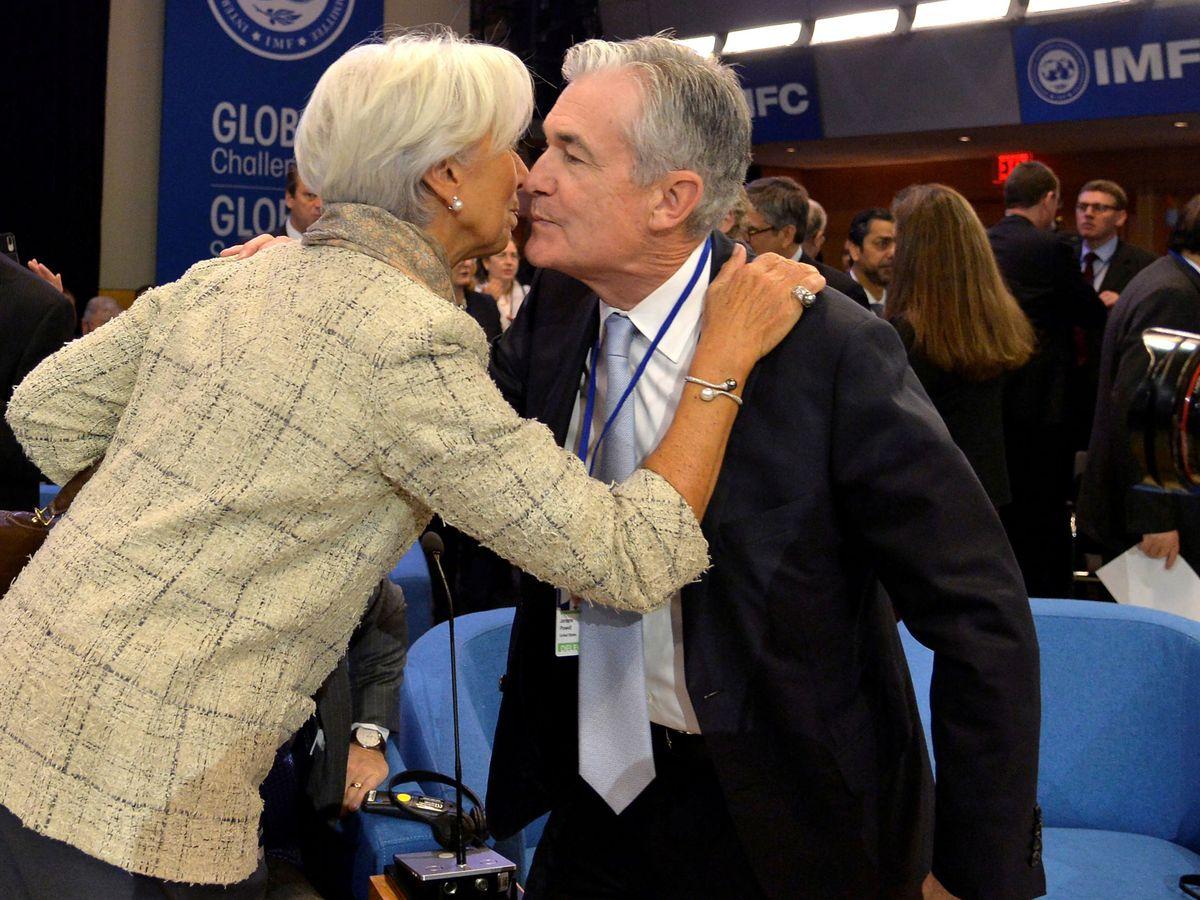 Foto: Lagarde y Powell, presidentes del BCE y de la Fed, respectivamente. (Reuters)
