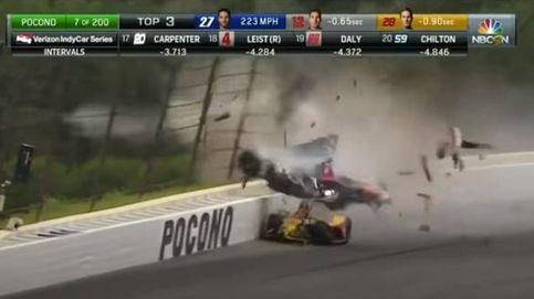 Los óvalos del IndyCar son algo muy serio: el brutal accidente de Wickens