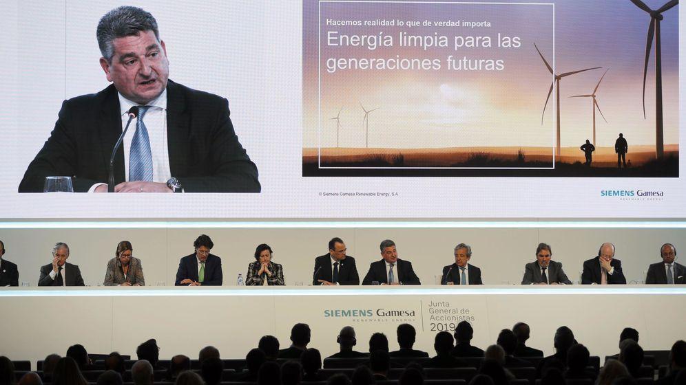 Foto: La junta de accionistas de Siemens Gamesa este miércoles. (EFE)