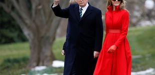 Post de Melania Trump, la perfecta encarnación de la mujer de rojo