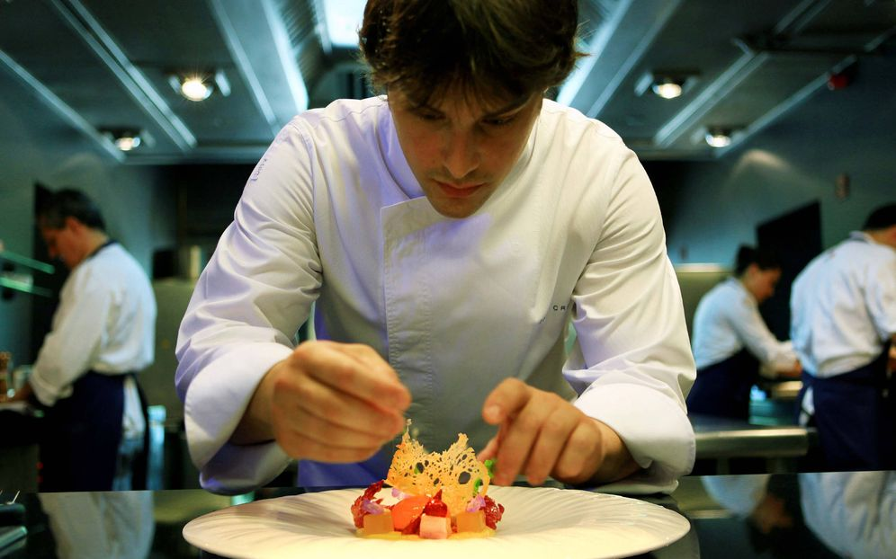 Foto: El chef Jordi Cruz en su restaurante Abac.