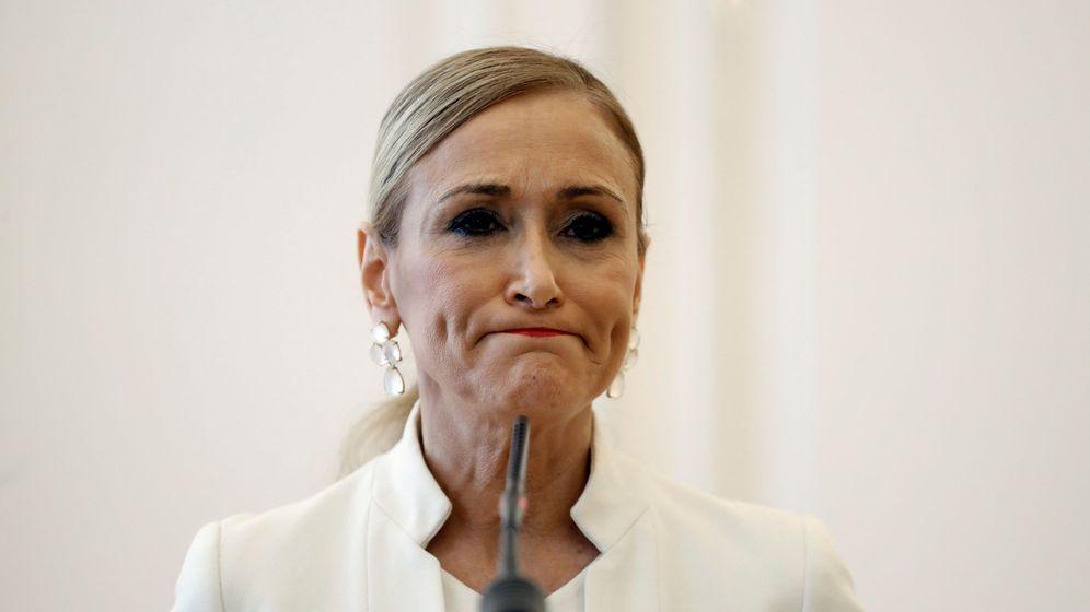 Foto: Cristina Cifuentes anuncia su dimisión. (EFE)