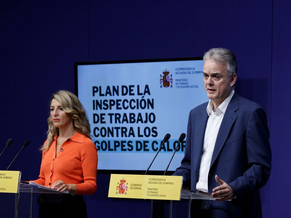 Foto: Héctor Illueca, con la vicepresidenta del Gobierno Yolanda Díaz. (EFE)