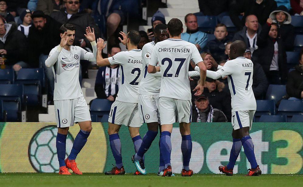 Foto: Morata abrió el marcador en la visita del Chelsea al West Bromwich Albion. (Reuters)