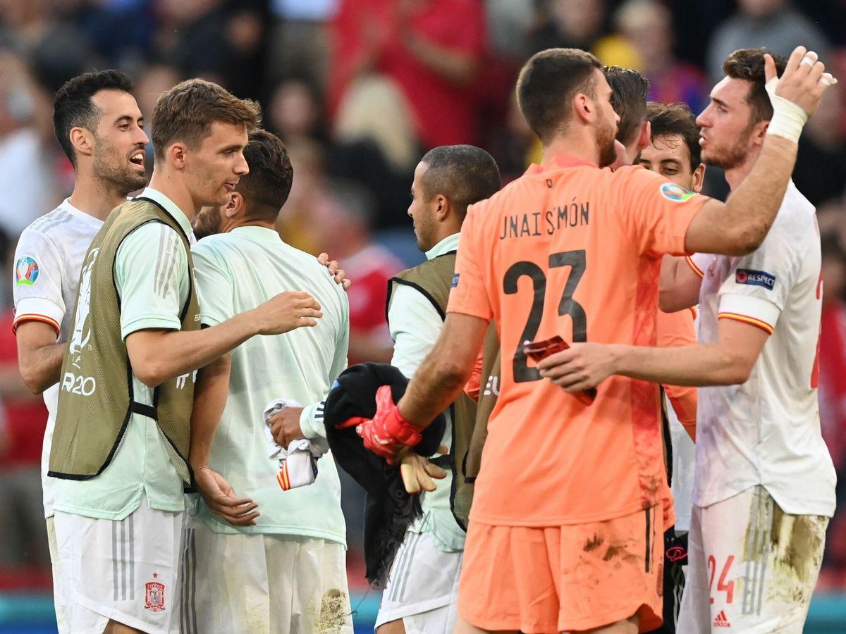 Foto: España se juega el pase a las semifinales de la Eurocopa. (EFE)