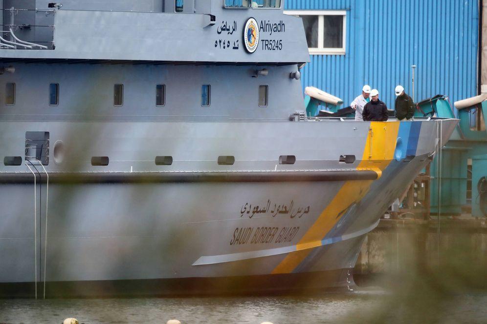 Foto: La patrullera Alriyadh para Arabia Saudí en el astillero de Lürssen, en Wolgast. (Reuters)
