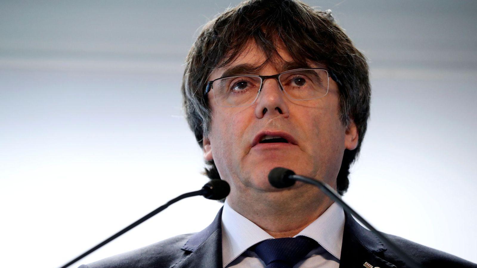 Foto: El 'expresident' de la Generalitat Carles Puigdemont. (EFE)
