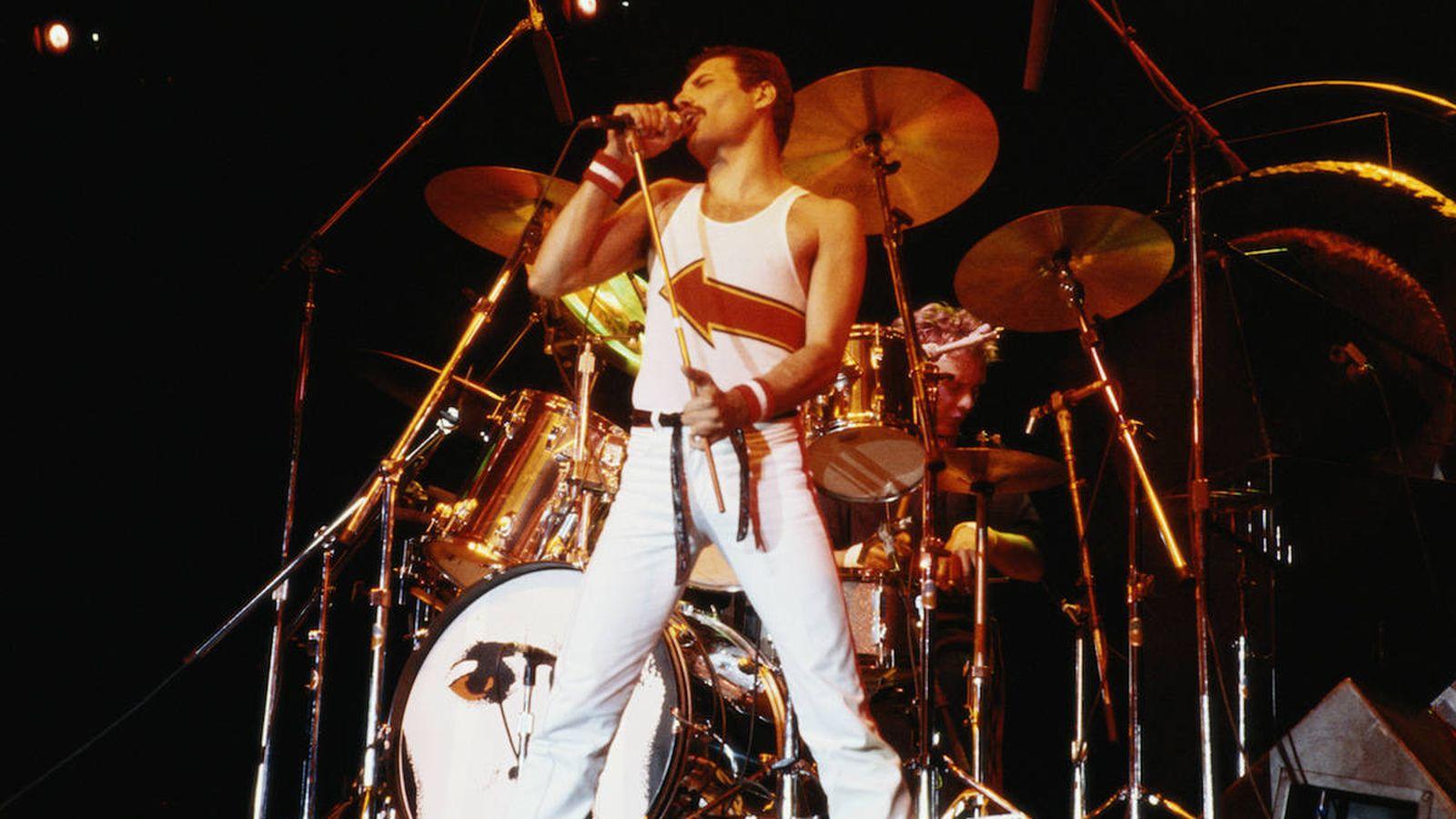 Foto: Queen en un concierto en 1982 (Getty)