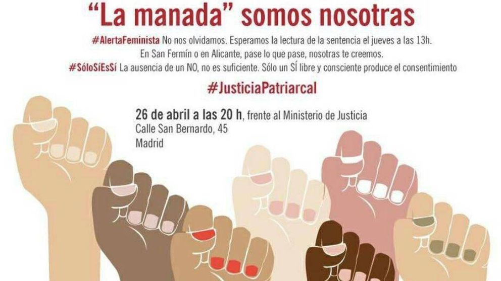 'La Manada somos nosotras': manifestación contra la sentencia en varias ciudades