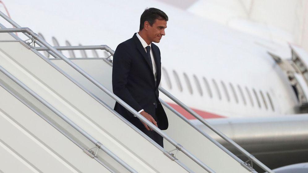 Foto: Pedro Sánchez a su llegada a Bolivia. (EFE)
