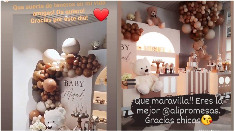 La reacción de Paula (izda.) y Miguel (dcha.) en sus Stories. (Instagram @pau_eche y @migueltorres)