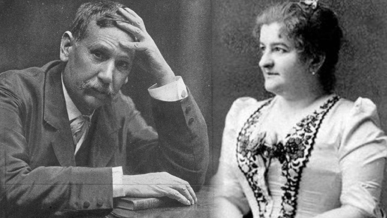 Benito Pérez Galdós y Emilia Pardo Bazán en un fotomontaje. (Getty / Archivo da Real Academia Galega)