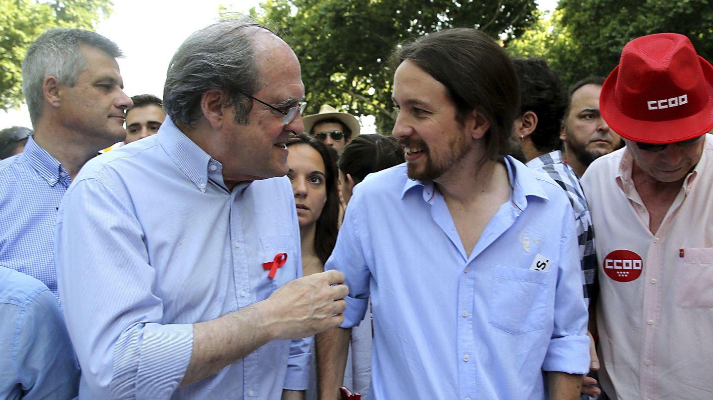 Ángel Gabilondo con Pablo Iglesias en 2015. (EFE)