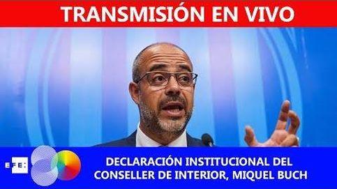 Declaración del conseller de Interior, Miquel Buch