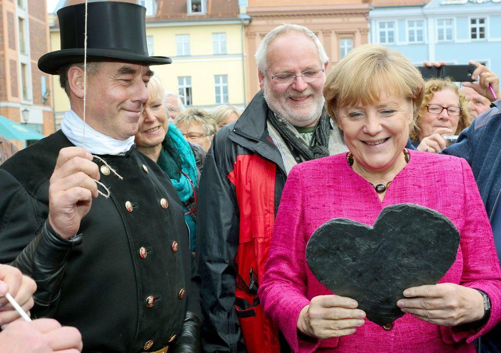 Foto: Angela Merkel, en un acto del último día de campaña. (Efe)