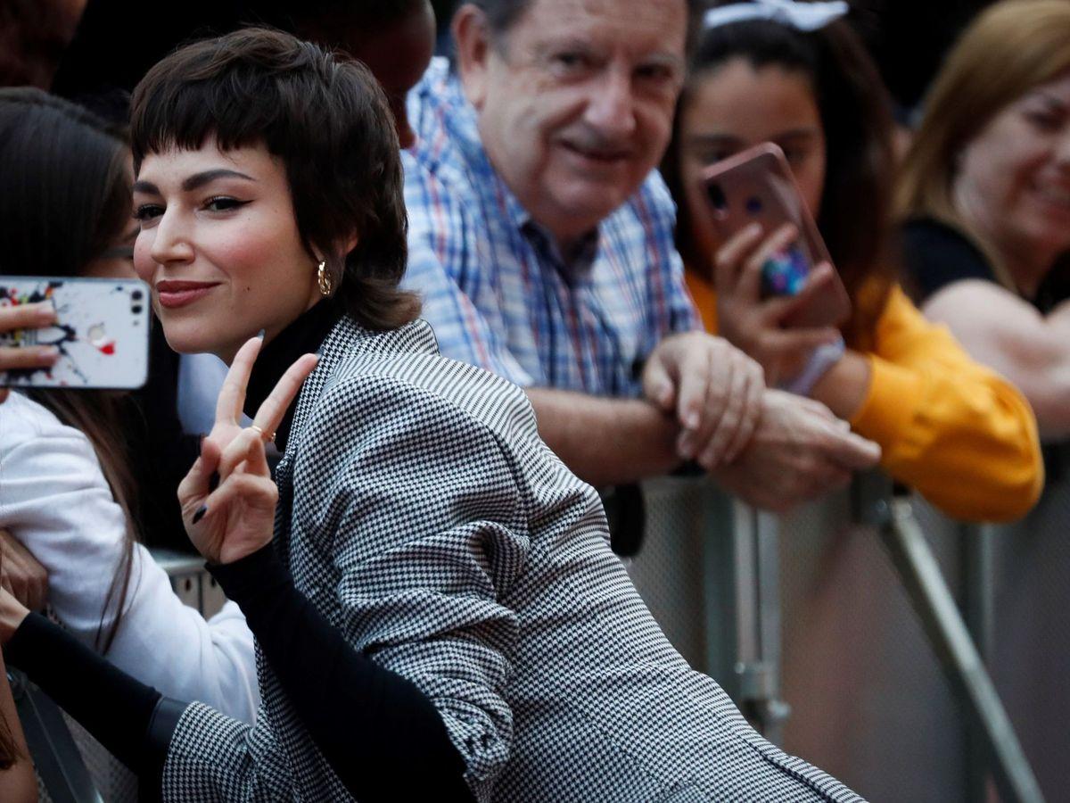 Foto: Úrsula Corberó, en la alfombra roja del Festival de Cine de San Sebastián. (EFE)
