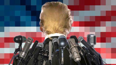 La disparatada arma secreta de Trump para volver loca a la prensa... es un calcetín