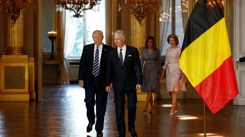 """Bruselas, """"el agujero infernal"""", recibe a Trump blindada y con protestas"""
