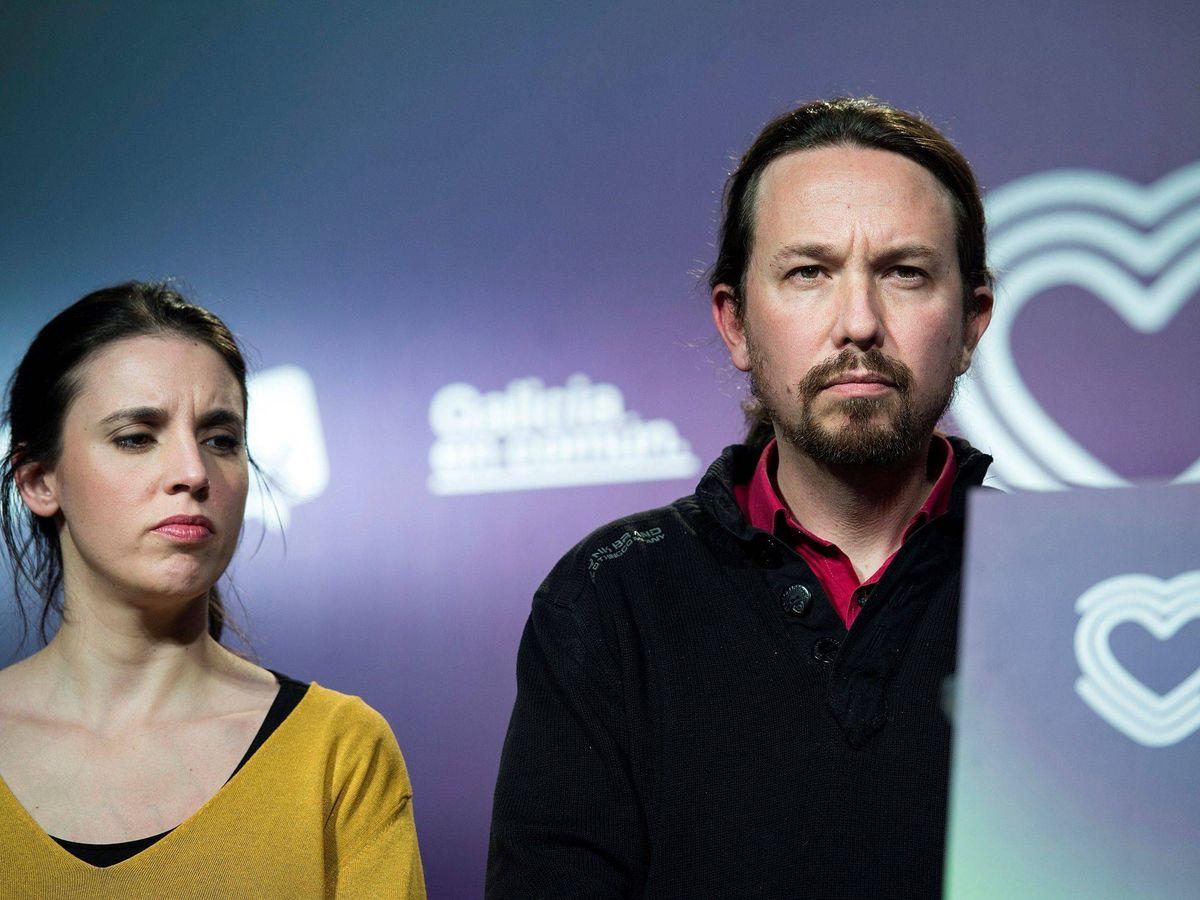 Foto: Irene Montero y Pablo Iglesias, en uno de los congresos de Podemos. (EFE)