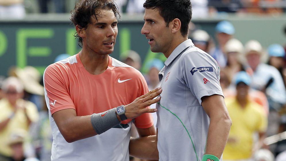 Foto: Rafa Nadal y Novak Djokovic en el Masters de Miami. (Reuters)