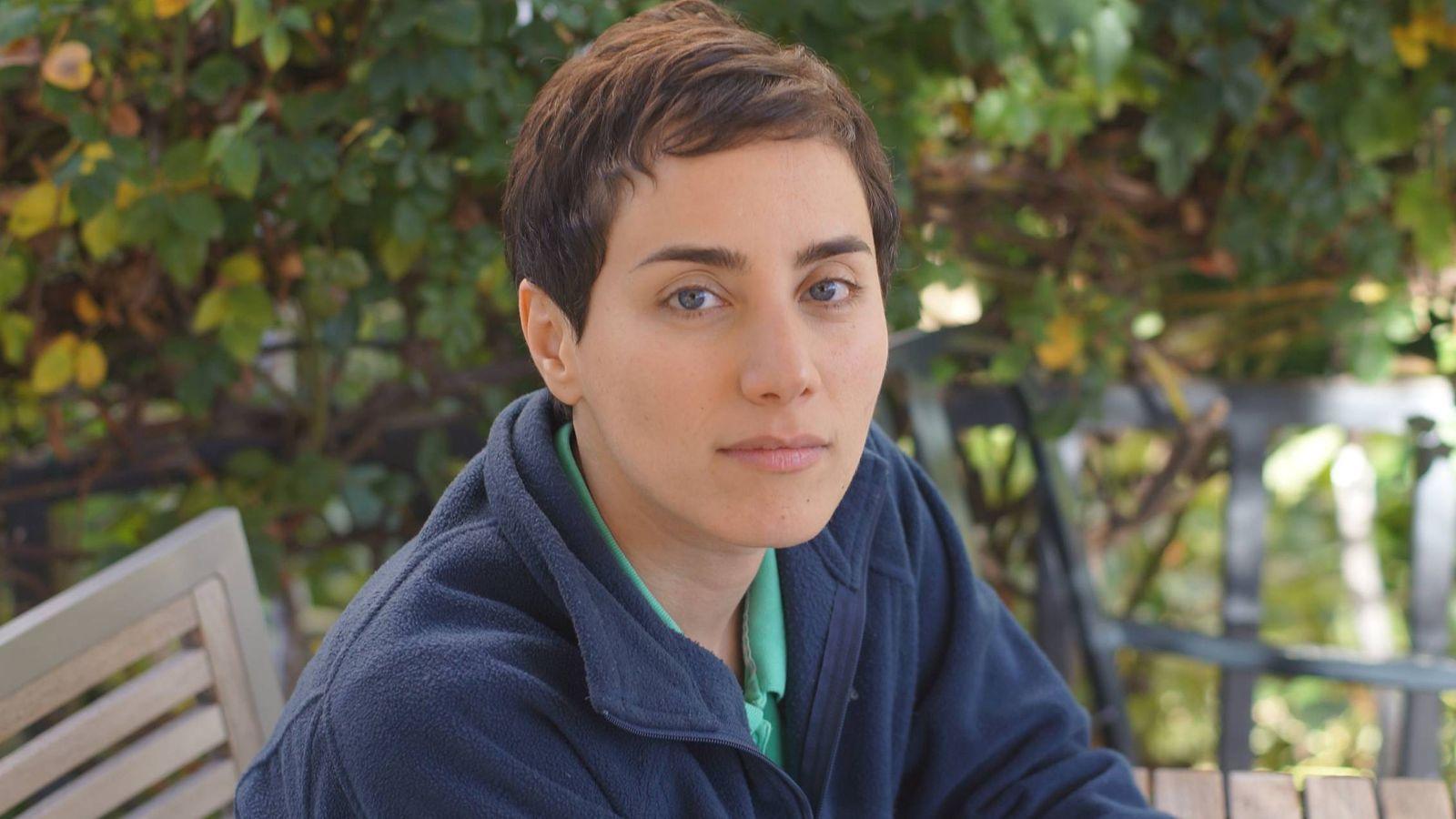 Foto:  Maryam Mirzakhani en el campus de la universidad californiana (Stanford)